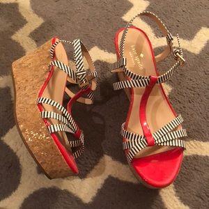 kate spade new york 'tropez' wedge platform sandal